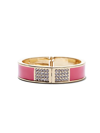 Sparkling Enamel Cuff Bracelet  - New York & Company