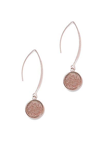 Sparkling Faux-Druzy Drop Earring  - New York & Company