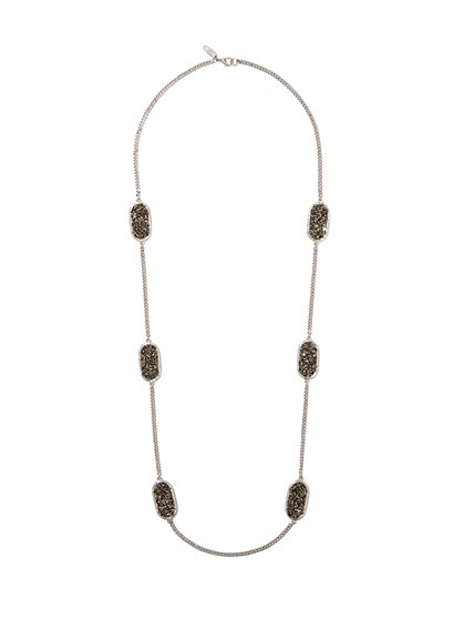 Sparkling Faux-Druzy Necklace  - New York & Company
