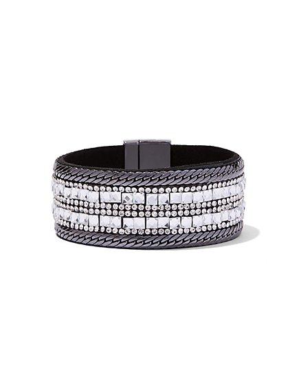 Sparkling Faux-Stone Cuff Bracelet  - New York & Company