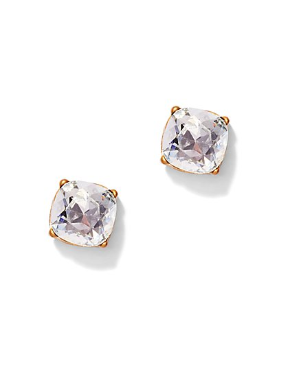 Sparkling Faux-Stone Post Earring  - New York & Company