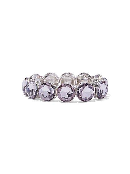 Sparkling Faux-Stone Stretch Bracelet  - New York & Company