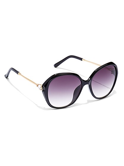 Sparkling Faux-Stone Sunglasses  - New York & Company