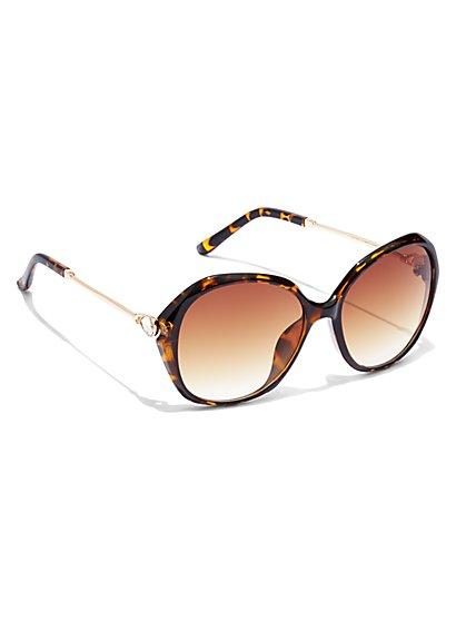 Sparkling Faux-Stone Sunglasses  - New York & Company