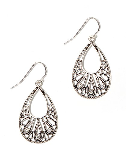Sparkling Filigree Drop Earring - New York & Company