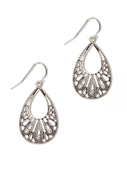 Sparkling Filigree Drop Earring - New York & Company