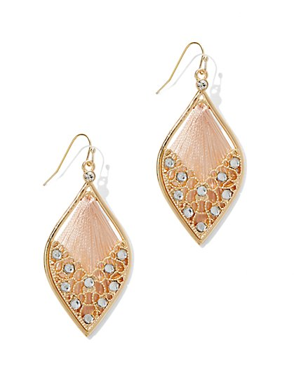 Sparkling Filigree Teardrop Earring  - New York & Company