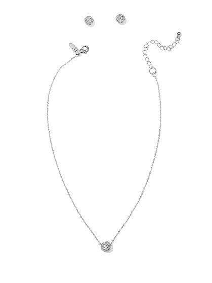 Sparkling Fireball Earring & Necklace Set  - New York & Company