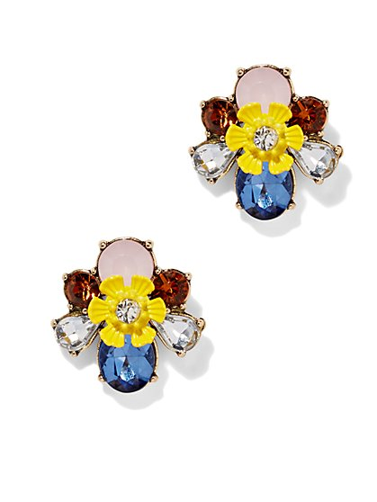 Sparkling Floral Earring  - New York & Company