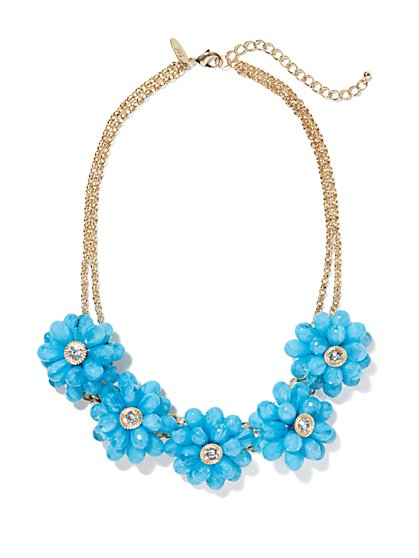 Sparkling Floral Necklace