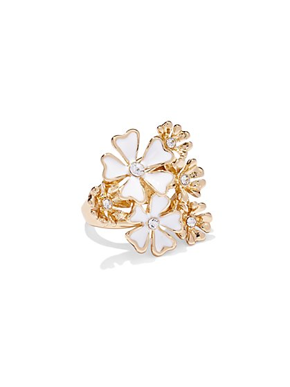 Sparkling Floral Ring  - New York & Company