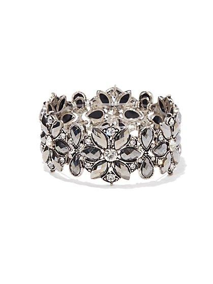 Sparkling Floral Stretch Bracelet  - New York & Company