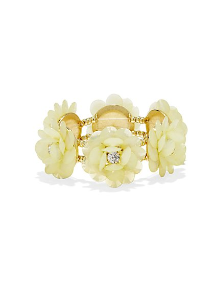 Sparkling Floral Stretch Bracelet  - New York & Company