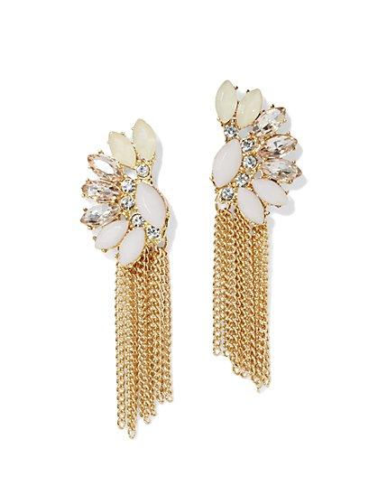 Sparkling Fringe Earring  - New York & Company