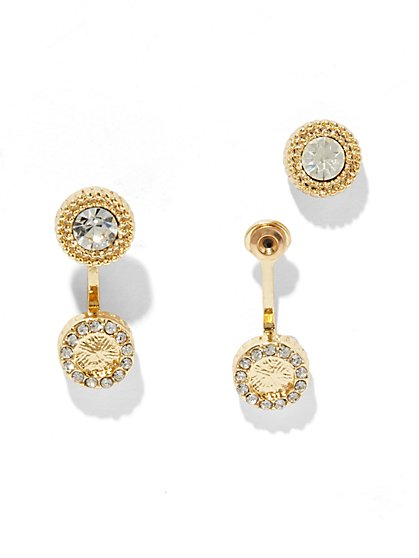 Sparkling Front/Back Earring  - New York & Company