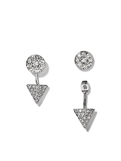 Sparkling Geo Front/Back Earrings - New York & Company