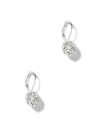 Sparkling Glass Fireball Drop Earrings - New York & Company