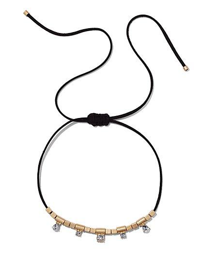 Sparkling Goldtone Choker Necklace  - New York & Company