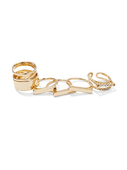Sparkling Goldtone Ring Set  - New York & Company