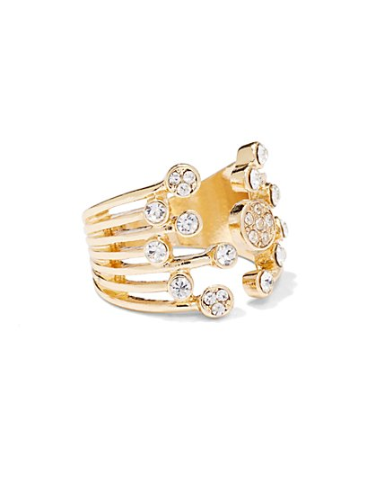 Sparkling Goldtone Ring  - New York & Company