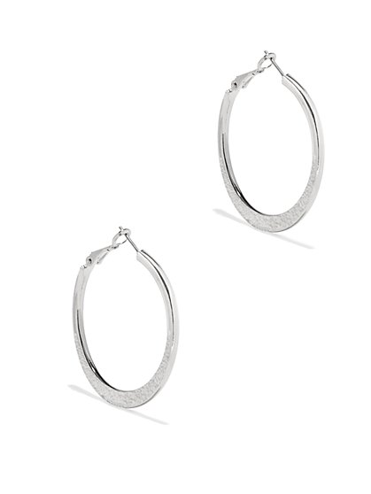 Sparkling Hoop Drop Earrings  - New York & Company