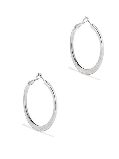 Sparkling Hoop Drop Earrings  - New York & Company