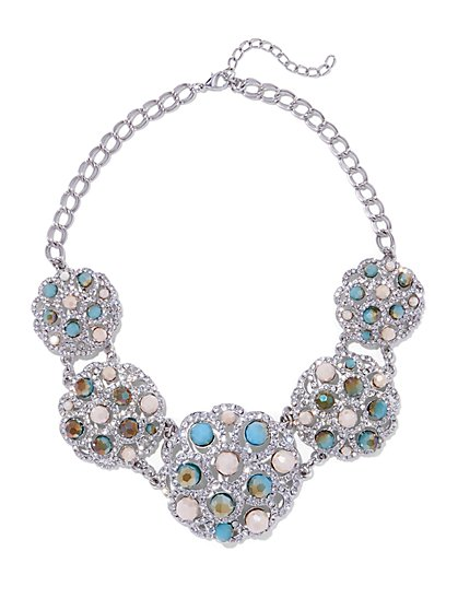 Sparkling Iridescent Bib Necklace  - New York & Company