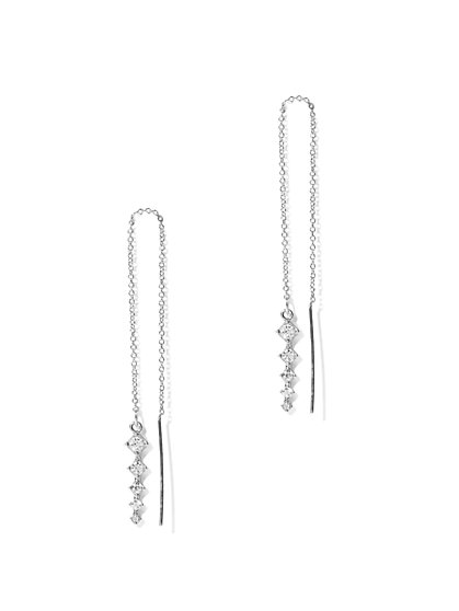 Sparkling Linear Pull-Through Earring - New York & Company