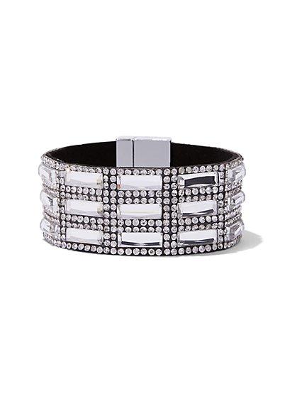 Sparkling Magnetic Cuff Bracelet  - New York & Company