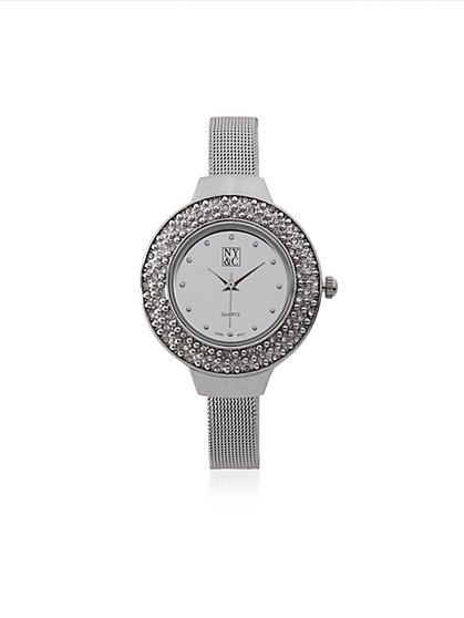 Sparkling Mesh Band Watch  - New York & Company