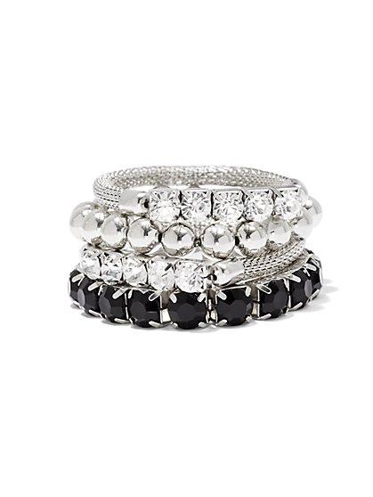 Sparkling & Mesh Bracelet Set - New York & Company