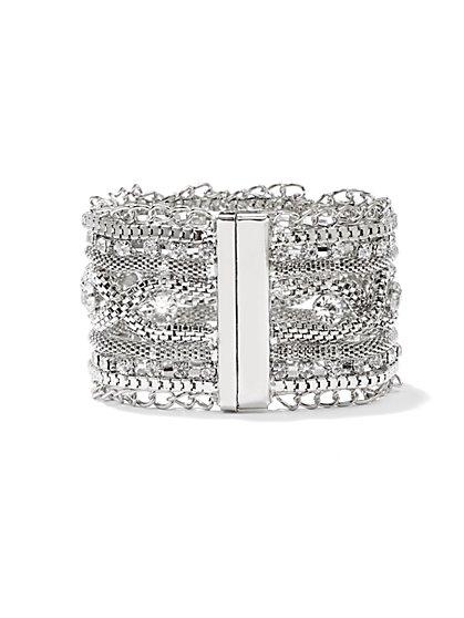 Sparkling Mesh Cuff Bracelet  - New York & Company