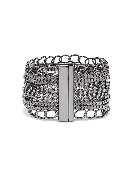 Sparkling Mixed-Chain Bracelet  - New York & Company
