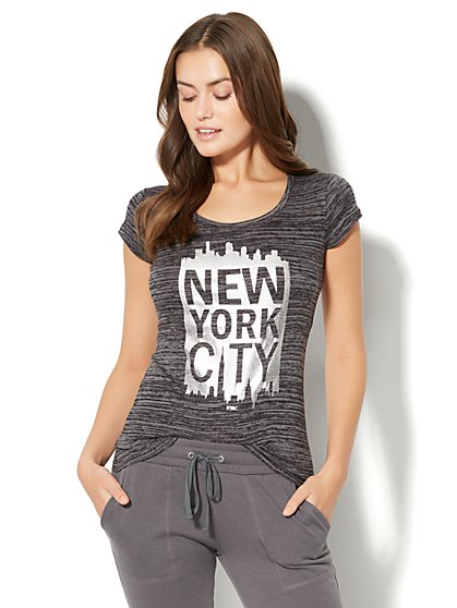 "Sparkling ""New York City"" Logo Tee  - New York & Company"