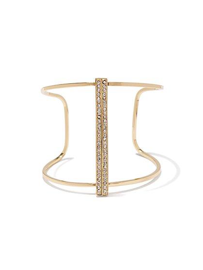 Sparkling Open-Cuff Bracelet  - New York & Company