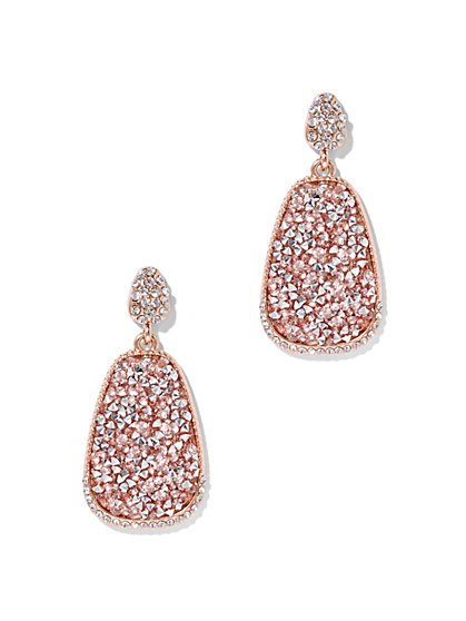 Sparkling Oval Drop Earring  - New York & Company