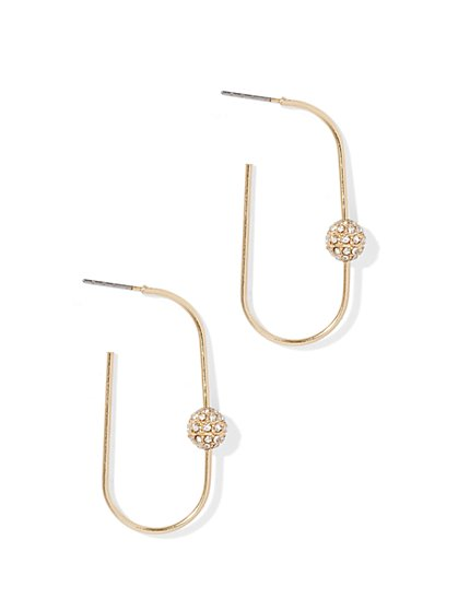 Sparkling Oval Hoop Earring  - New York & Company