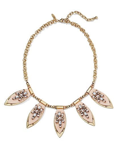 Sparkling Pendant Collar Necklace  - New York & Company