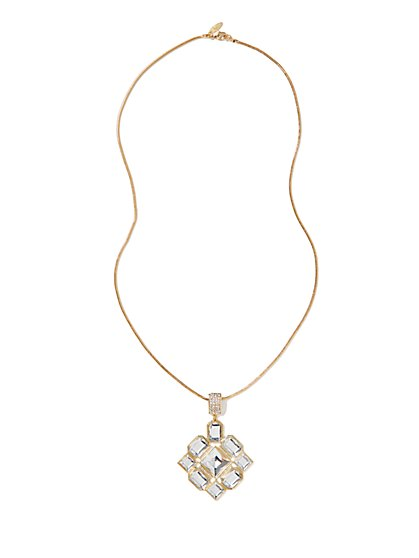 Sparkling Pendant Necklace  - New York & Company