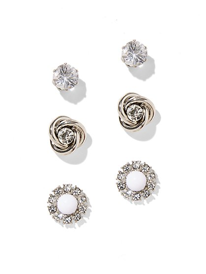 Sparkling Post Earring Set  - New York & Company
