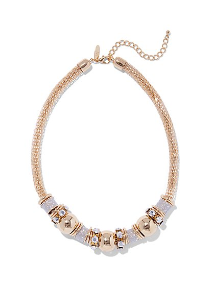 Sparkling Rondelle Necklace  - New York & Company