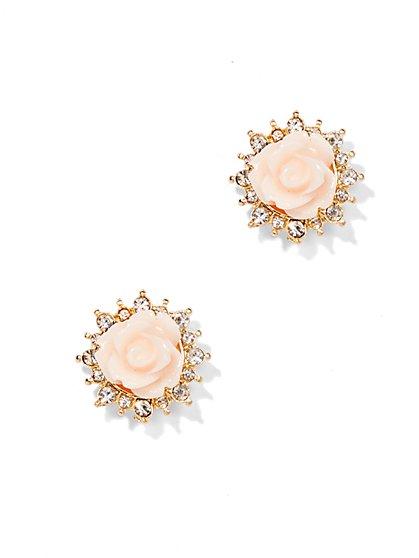 Sparkling Rosette Earring  - New York & Company