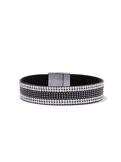 Sparkling Silvertone Cuff Bracelet  - New York & Company