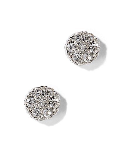 Sparkling Silvertone Post Earring  - New York & Company