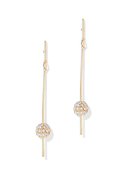 Sparkling Spherical Accent Drop Earring - New York & Company