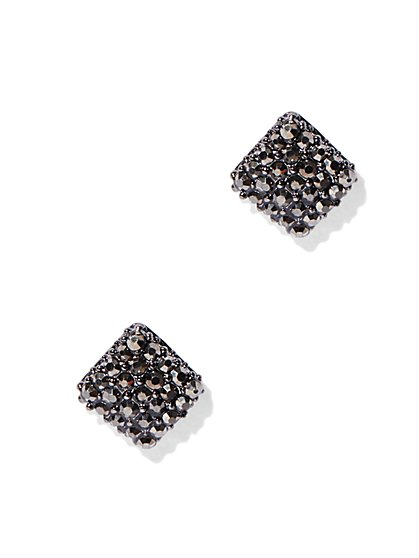 Sparkling Square Post Earring  - New York & Company