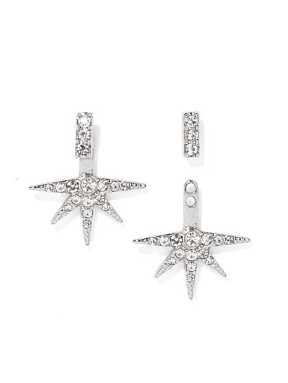 Sparkling Starburst Drop/Post Earring  - New York & Company