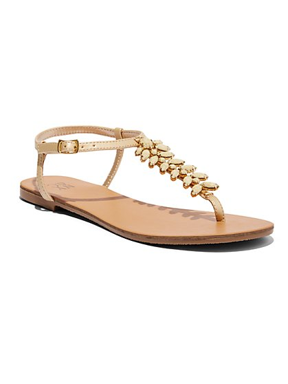 Sparkling T-Strap Sandal  - New York & Company