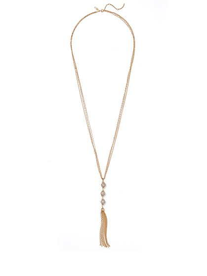 Sparkling Tassel Pendant Necklace  - New York & Company