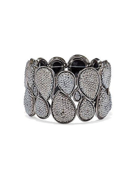 Sparkling Teardrop Stretch Bracelet   - New York & Company